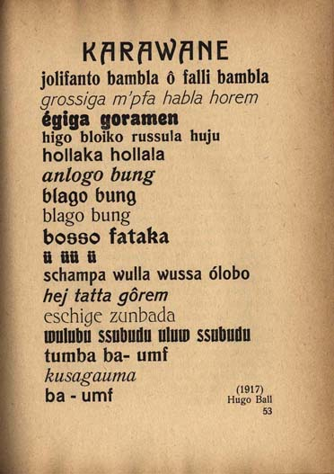 Karawane / Hugo Ball dans Dada hugoballkarawane1