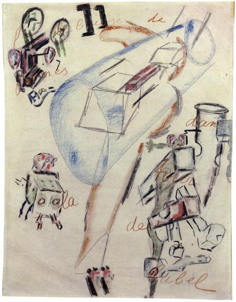 Dialogues / Gilles Deleuze et Claire Parnet dans Anarchies antonin-artaud-la-bouillabaisse-de-formes-dans-la-tour-de-babel1948