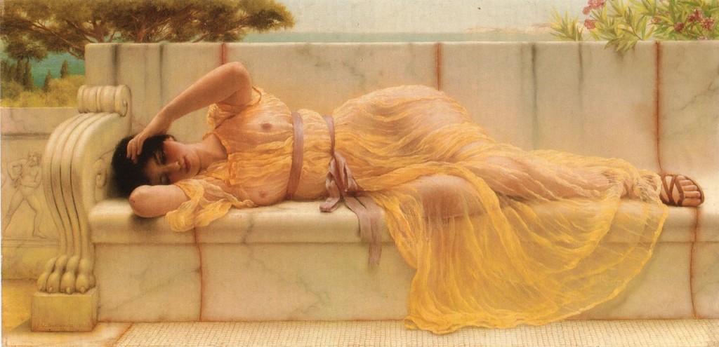 Le Luxurieux / Marc-Antoine Legrand / Théâtre érotique du XVIII° siècle dans Eros nue-allongee
