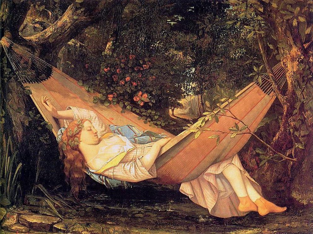 L'Art de la sieste / Thierry Paquot dans Anarchies courbet-le-hamac